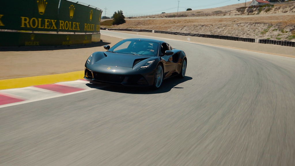 LOTUS EMIRA ARRIVES IN THE USA WITH F1 LEGEND JENSON BUTTON AT THE WHEEL FOR THRILLING LAGUNA SECA FILM AHEAD OF USA PUBLIC DEBUT AT THE QUAIL